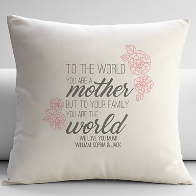 You Are the World Throw Pillow
