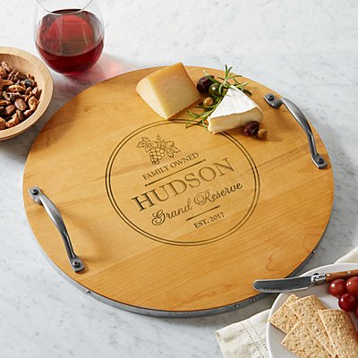 Grand Reserve Wine Barrel Tray