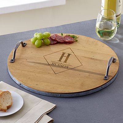 Monogram Wine Barrel Tray