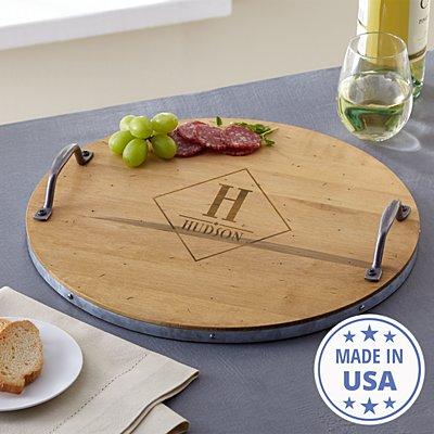 Monogram Wine Barrel Tray