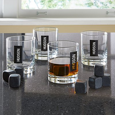 Double Old Fashioned + Whiskey Stones - Name/Initials