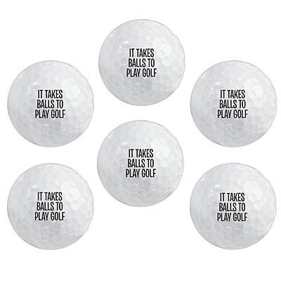 Talk Birdie to Me Golf Balls - Set of 6 - Single Message