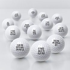 Any Message Golf Balls