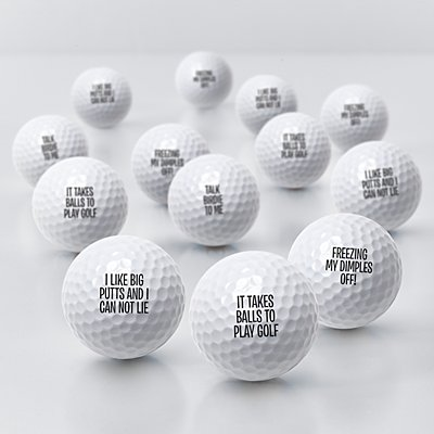 Any Message Golf Balls