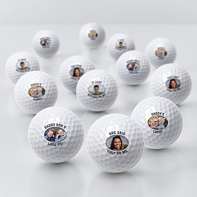 Picture Perfect Photo Golf Balls with Message