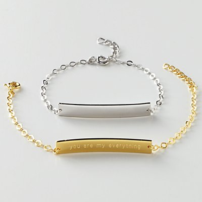 Hidden Message Chain Bracelet