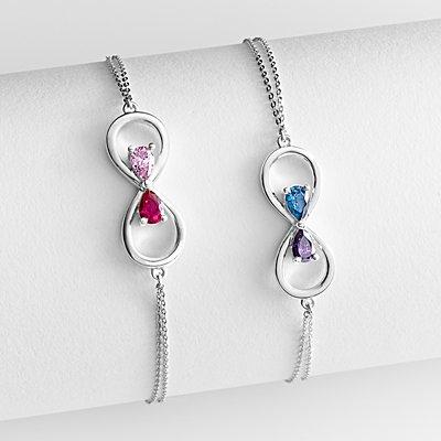 Infinity Birthstone Bracelet