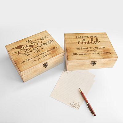 Letters Between a Mother and Child Keepsake Box