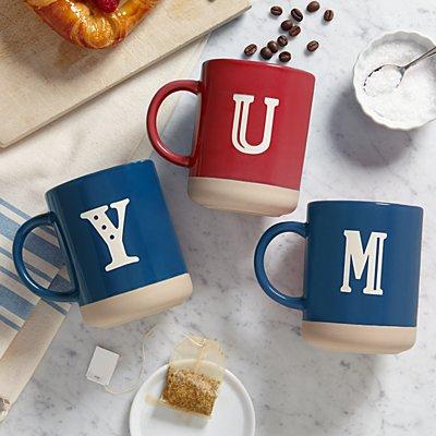 Modern Monogram Stoneware Mug