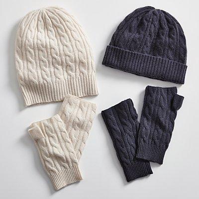 Cashmere Mitten & Hat Set