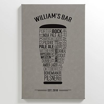 Craft Beer Leather Wall Art