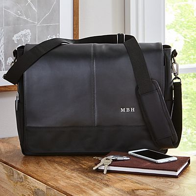 Executive Leather Messenger Bag