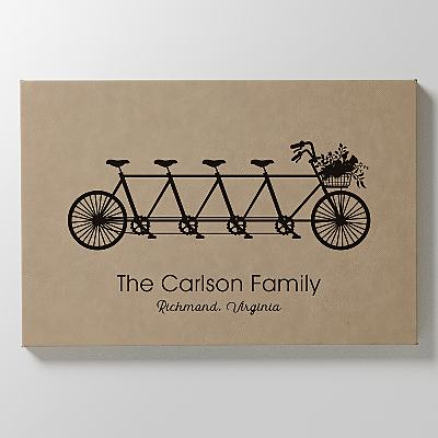 Family Adventure Leather Wall Art
