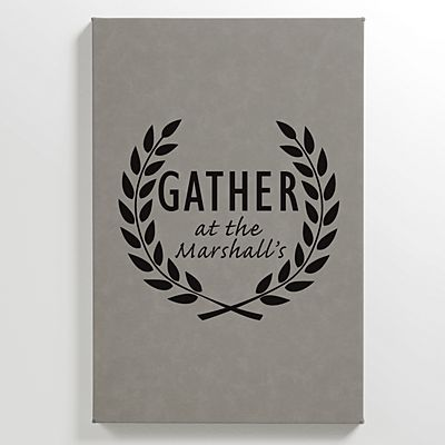 Family Gather Leather Wall Art