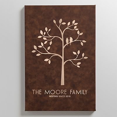 Family Tree Leather Wall Art