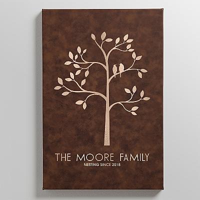 Family Tree Leather Wall Art