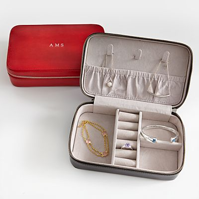 Leather Travel Jewelry Case