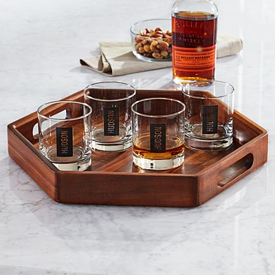 Monogram Whiskey Serving Set