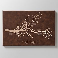 Our Family Milestones Leather Wall Art