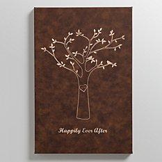 Tree Initials Leather Wall Art