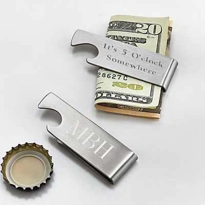 Bottle Opener Money Clip