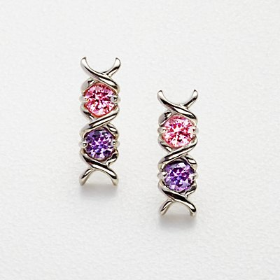 XO Birthstone Earrings