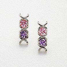 XO Birthstone Earrings