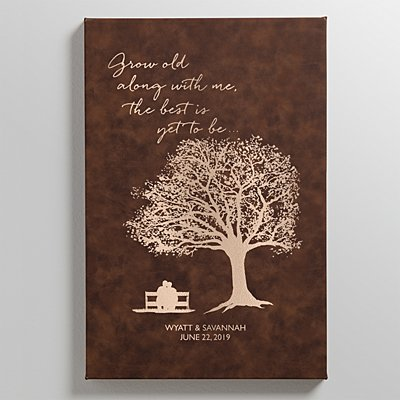 Grow Old with Me Leather Wall Art