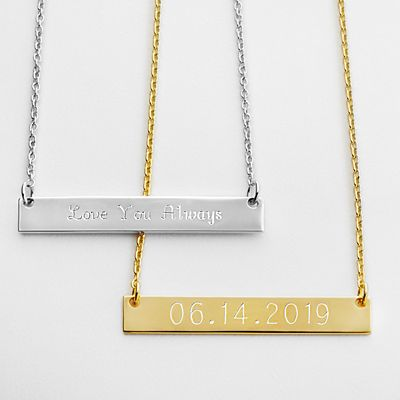 Hidden Message Bar Necklace