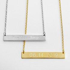Hidden Message Bar Necklace