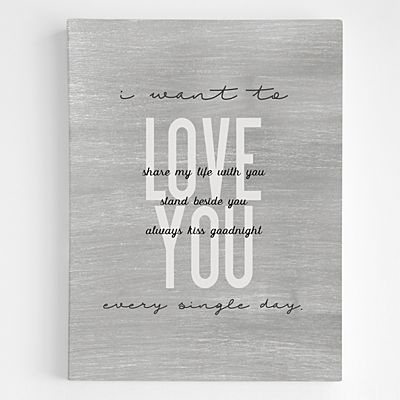 I Want to Love You Wall Art