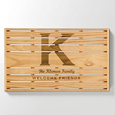 Name + Initial Slatwood Sign
