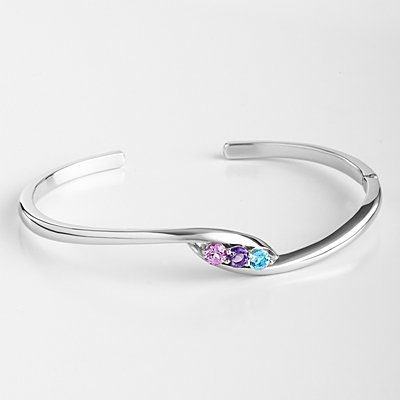 Loving Arms Birthstone Cuff