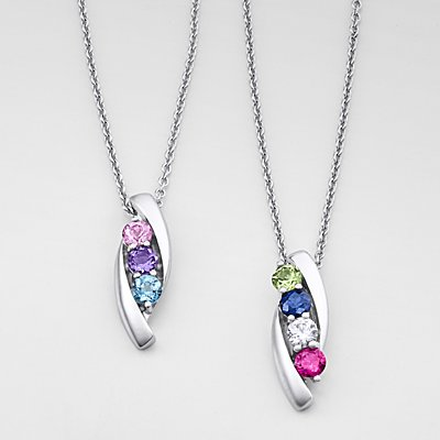 Loving Arms Birthstone Necklace