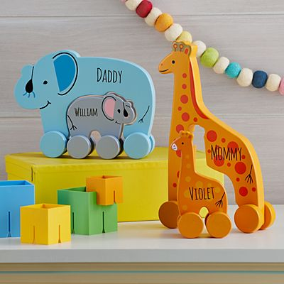 Big and Little Wooden Push Toy Set