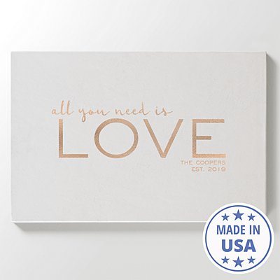 Love is All You Need Leather Wall Art - White