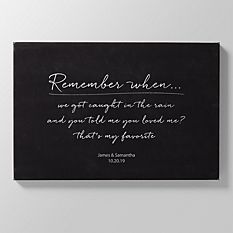 Remember When Leather Wall Art