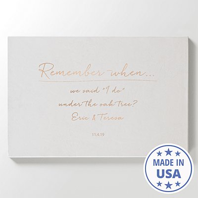 Remember When Leather Wall Art - White