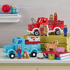Wooden Magnetic Transportation Toy Set
