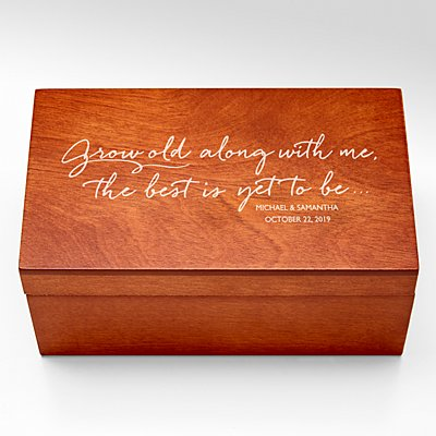 Grow Old With Me Ring Holder Keepsake Box