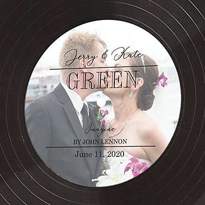 Photo Vinyl Wall Art - Black Text