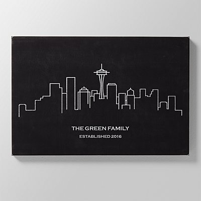 Our Home Skyline Leather Wall Art