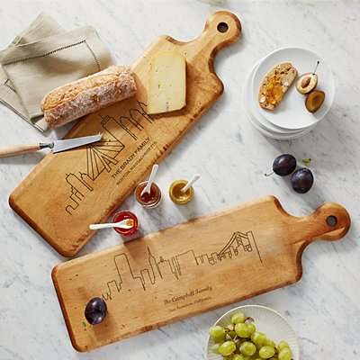 Our Home Skyline Wood Serving Board