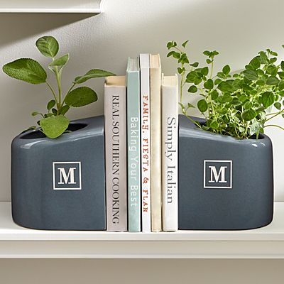 Ceramic Bookends + Planter