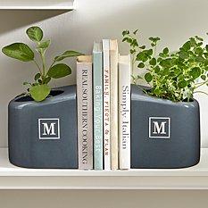 Ceramic Bookends + Planter