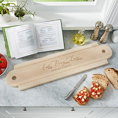 Eat. Pray. Love Oversized Wood Banquet Board