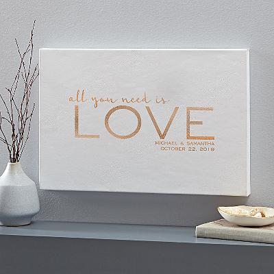Love is All You Need Leather Wall Art