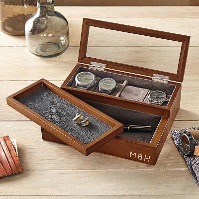 Personalized Wooden Watch Case - Personalized