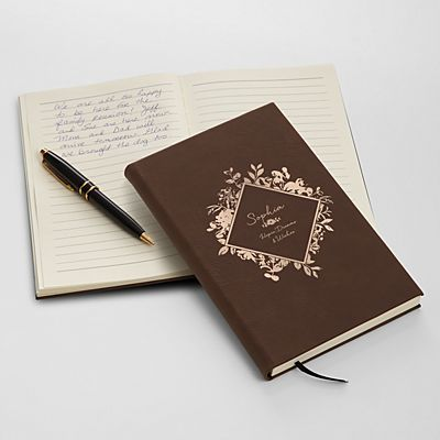 Floral Blossoms Leather Journal