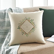 Floral Blossoms Throw Pillow